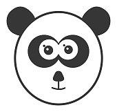 Vector of Panda Head Icon