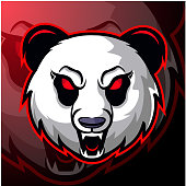Illustration of Panda head mascot logo design