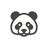 Panda Icon. Bamboo bear icon