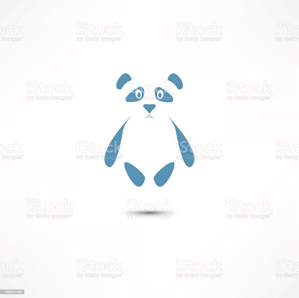 Panda Icon royalty-free stock vector art