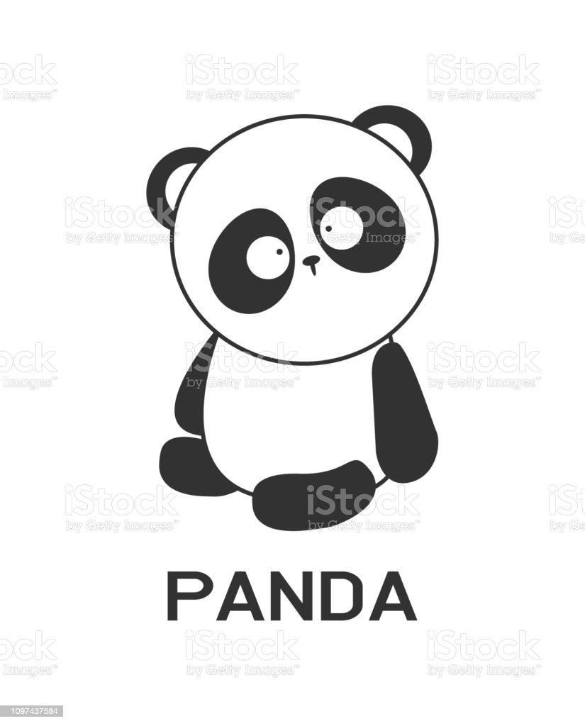 Panda Logo design vector, funny animal Logotype bear concept icon....