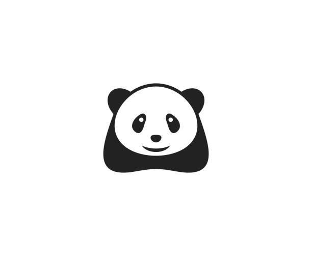 illustrations, cliparts, dessins animés et icônes de logo panda - panda