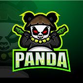 Vector Illustration of Panda mascot esport logo design