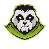 E-sports team logo template with Panda vector illustration