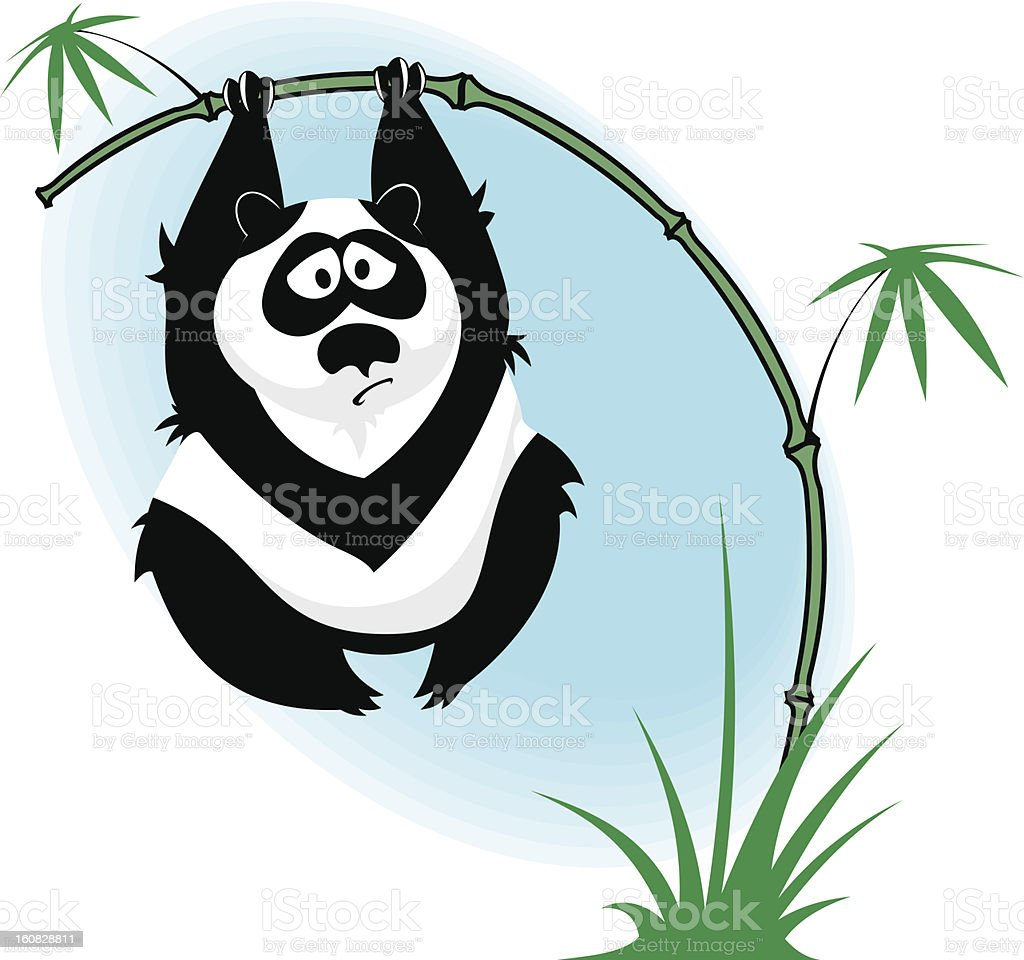 Panda on the bamboo royalty-free stock vector art