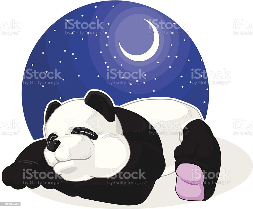 Panda Sleeping royalty-free stock vector art