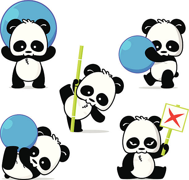 Panda Style vector art illustration