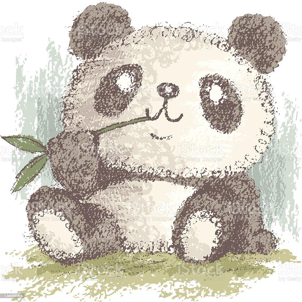panda that is eating bamboo stock vector art 158459069 istock