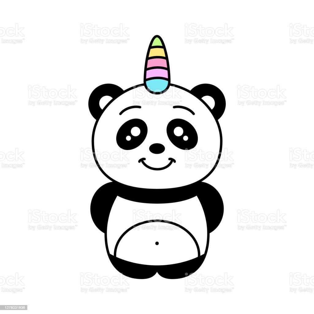 Personnage De Dessin Anime De Licorne De Panda Drole De Sourire De Pandacorn Kawaii Vecteurs Libres De Droits Et Plus D Images Vectorielles De Arc En Ciel Istock