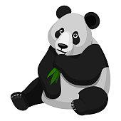Illustrationen visar en panda