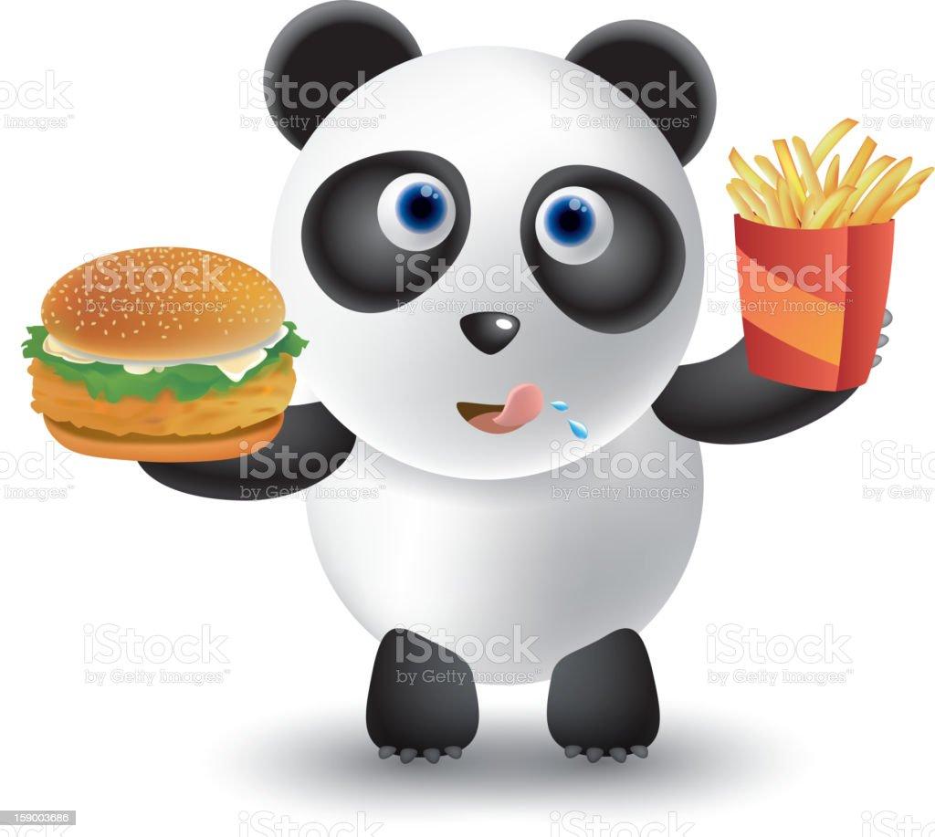 Panda royalty-free stock vector art