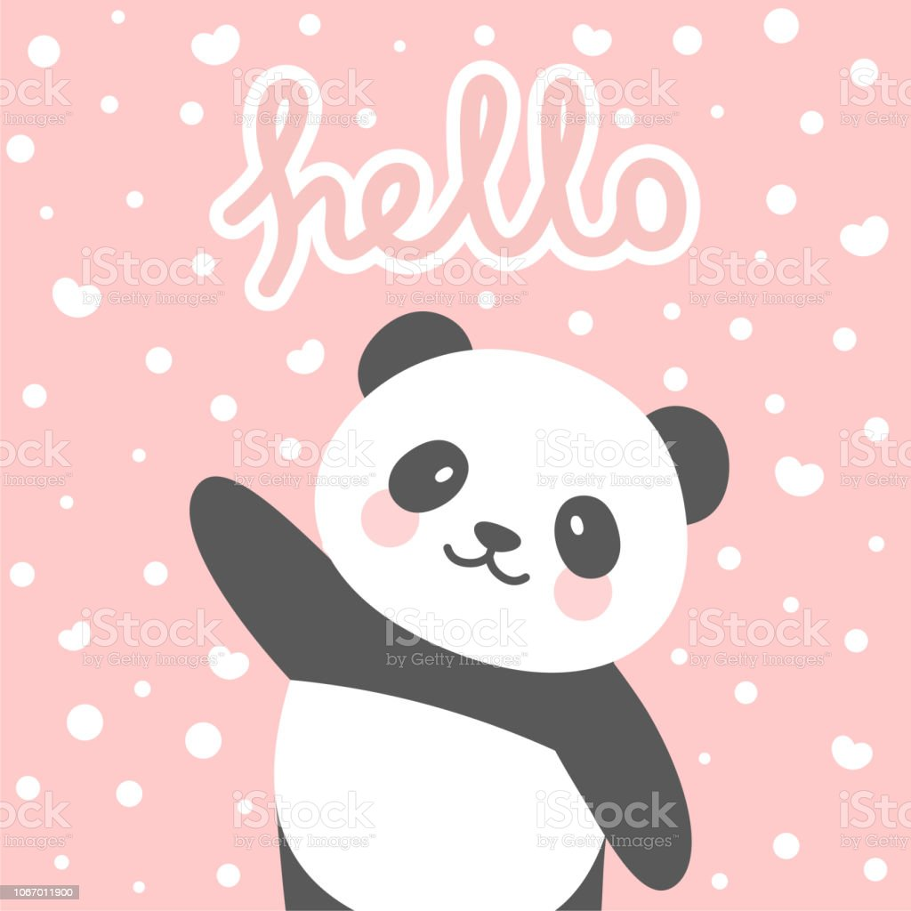 photo relating to Baby Shower Card Printable identified as Panda Vector Print Kid Shower Card Inventory Case in point - Obtain Graphic At this time