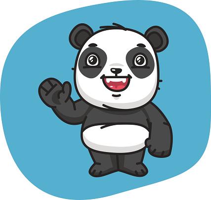 Panda Waving Paw