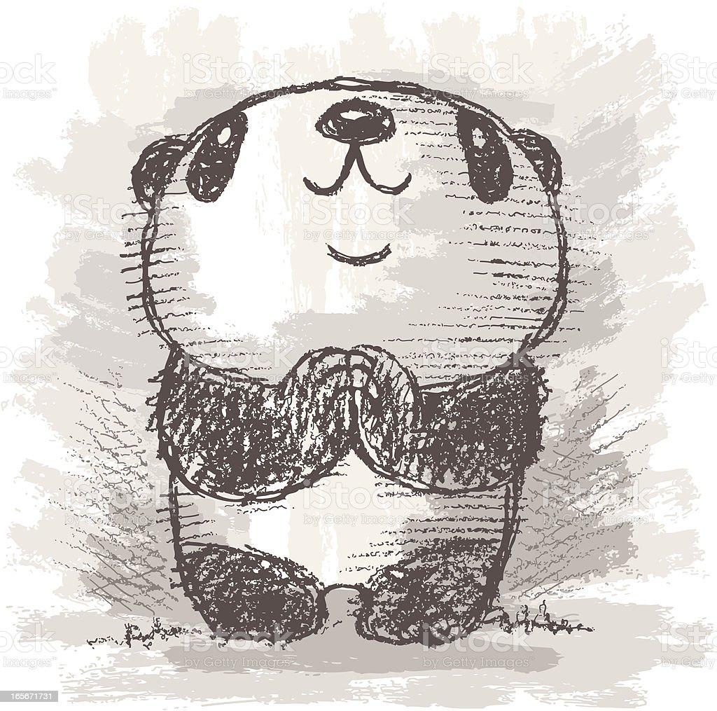 Panda's prayer vector art illustration