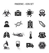Vector of pandemic Icon Set