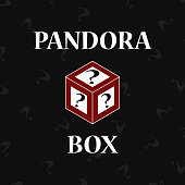 Pandoras box on black background
