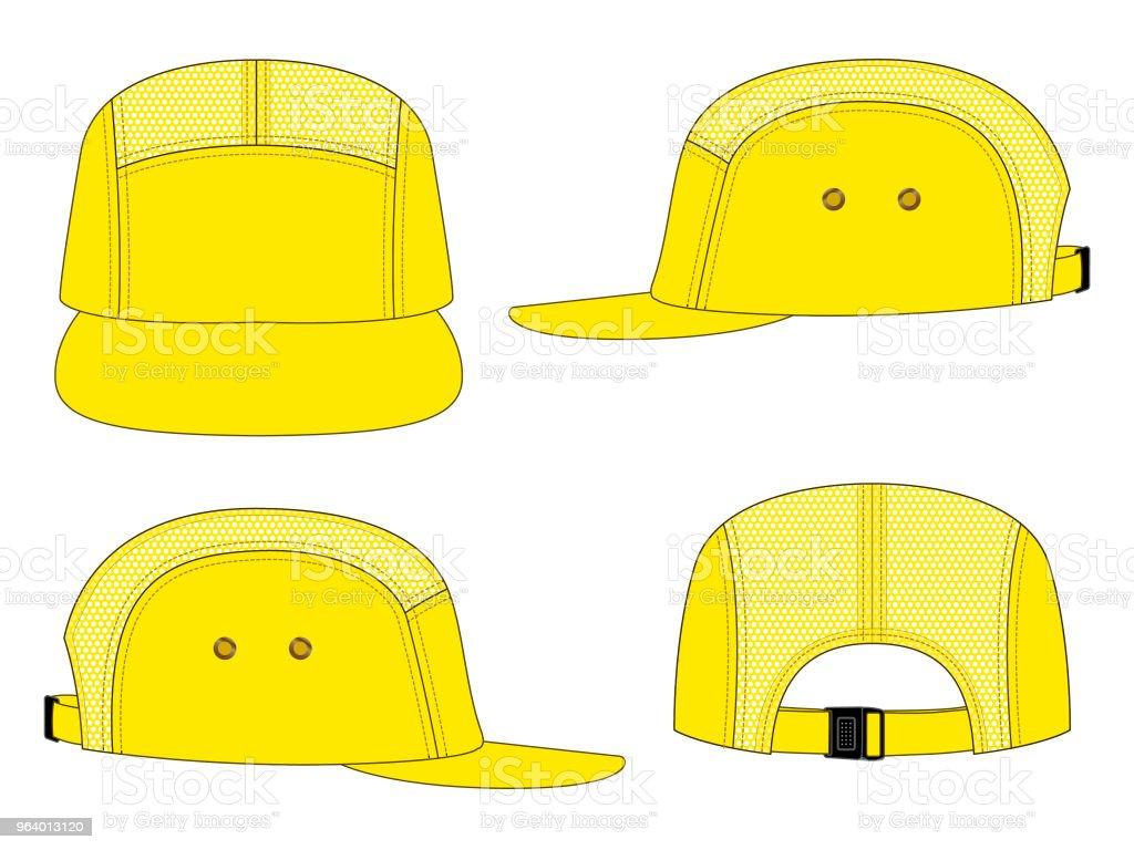 5 panel net baseball cap - Royalty-free Blank stock vector