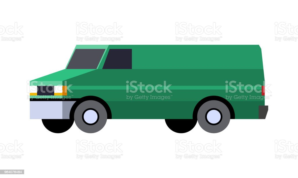 Panel van vehicle - Royalty-free Abstract stock vector