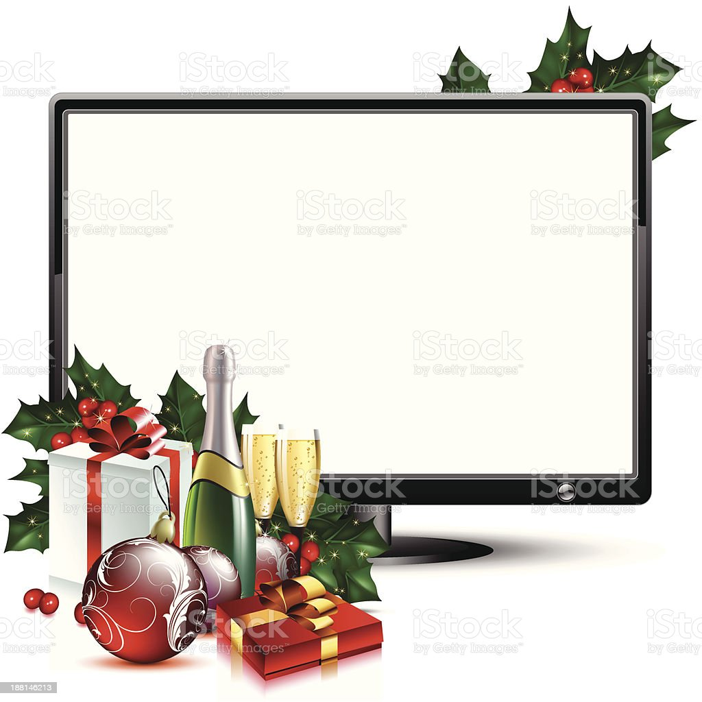 LCD panel with christmas royalty-free lcd panel with christmas stock vector art & more images of alcohol