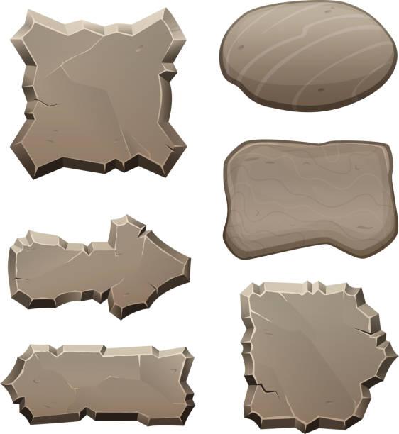 paneele aus steinen und felsen. vektor-bilder zu isolieren - granitplatten stock-grafiken, -clipart, -cartoons und -symbole