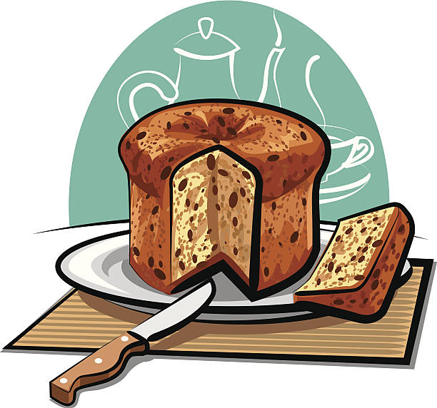 illustrazioni stock, clip art, cartoni animati e icone di tendenza di panettone - panettone