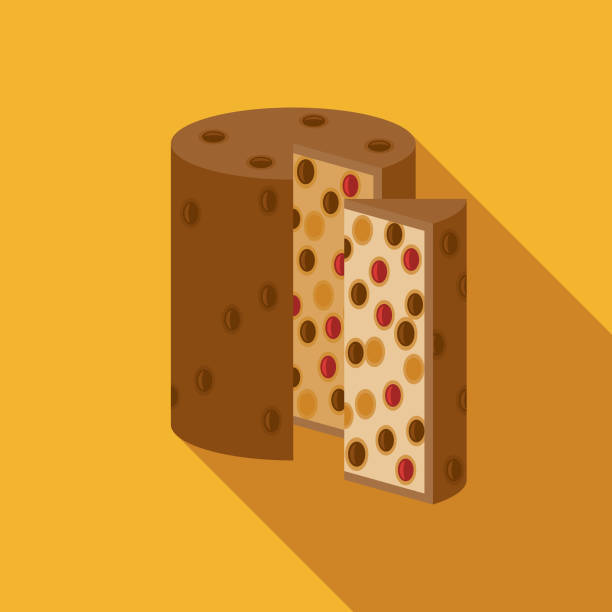 illustrazioni stock, clip art, cartoni animati e icone di tendenza di panettone italian food icon - panettone