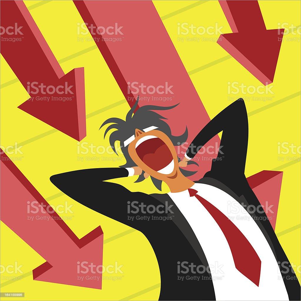 Panic at work royalty-free stock vector art