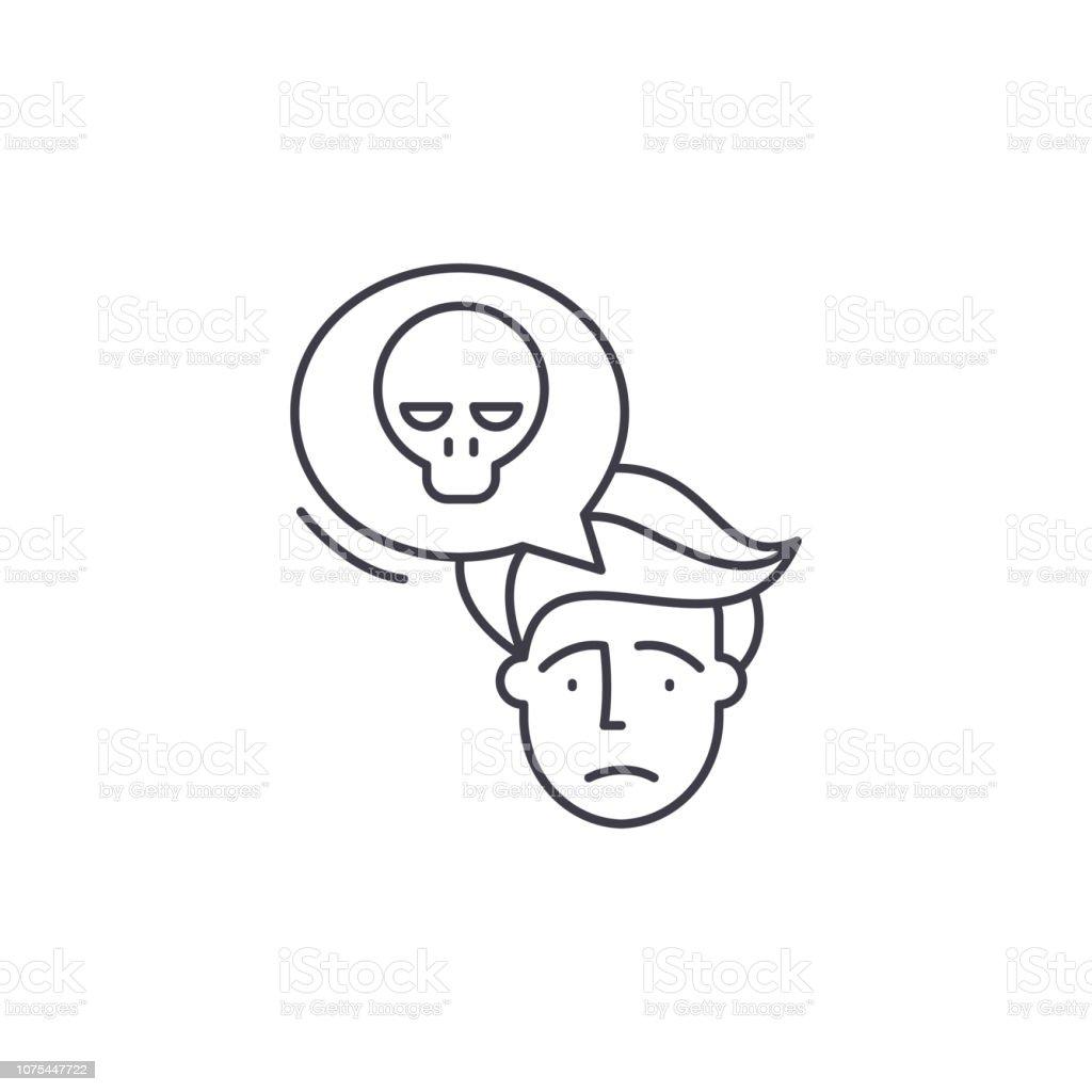 Panic Line Icon Concept Panic Vector Linear Illustration Symbol Sign
