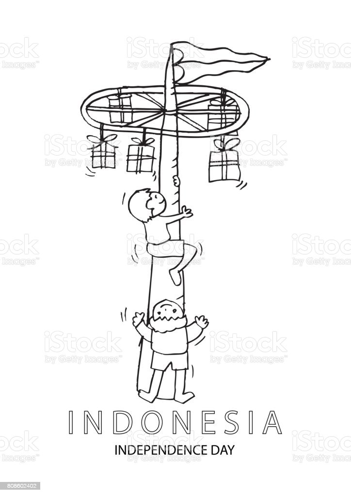 Panjat Pinang Poste Que Sube Tradición De Día De La Independencia ...
