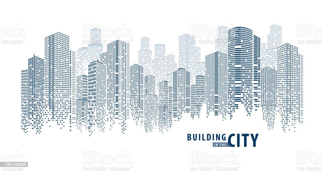 Pano Building abstract 1 - Royalty-free Alto - Descrição Física arte vetorial