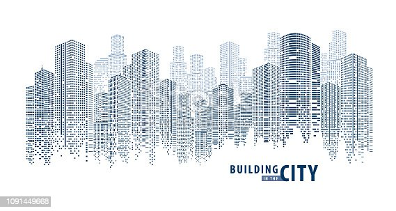 istock Pano Building abstract 1 1091449668