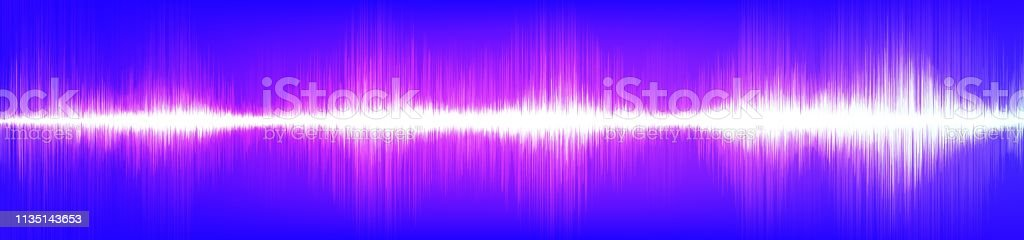 Panorama Light Violet Digital Sound Wave Background,technology and...