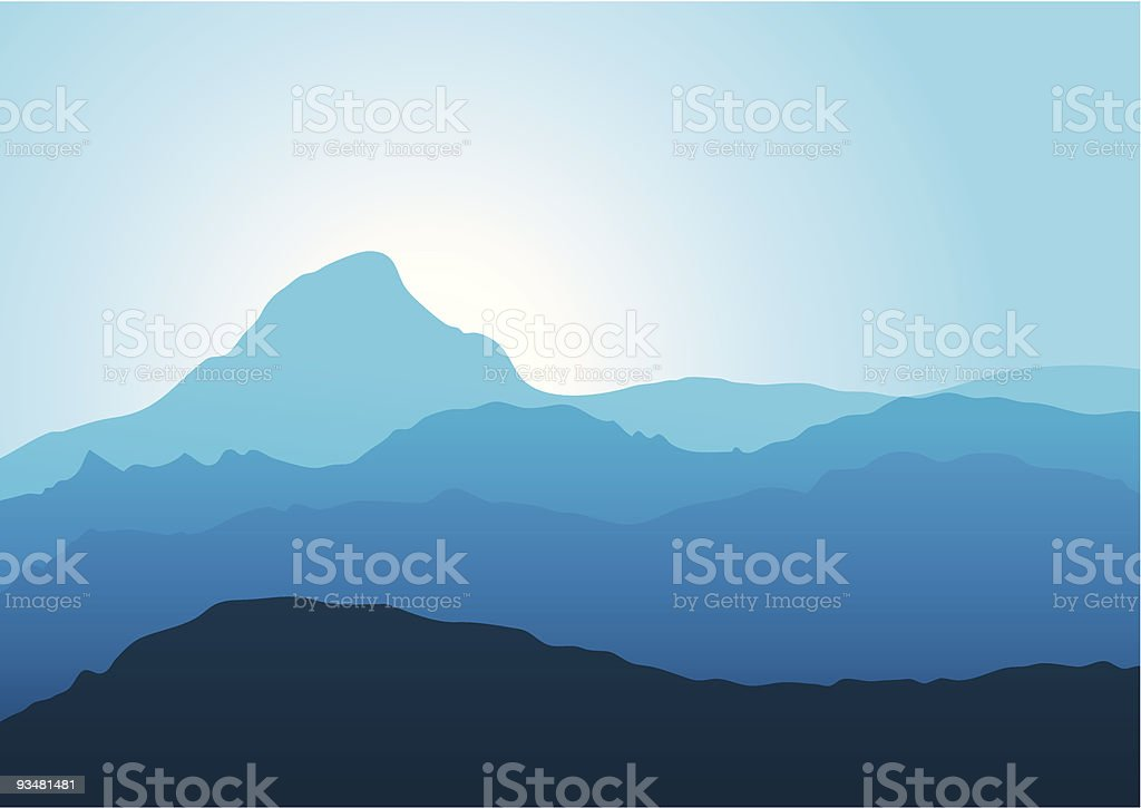 Panorama of mountains royalty-free stock vector art