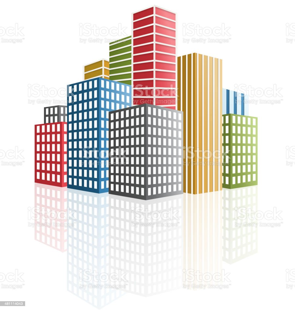 Panorama of the city. skyscrapers vector art illustration