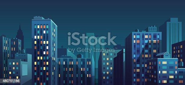 istock Panorama of the city 480751186