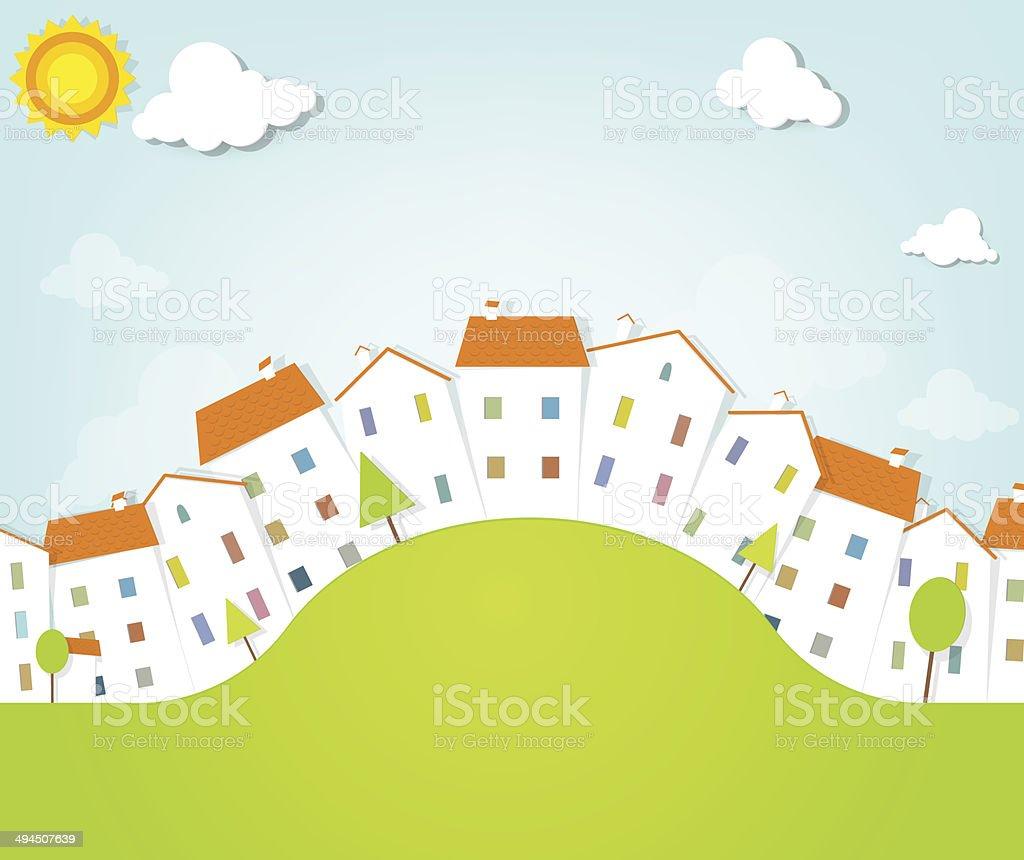 panorama de la ville panorama de la ville – cliparts vectoriels et plus d'images de appartement libre de droits
