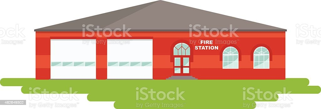 royalty free background of a firehouse clip art vector images rh istockphoto com