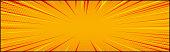 Panoramic orange comic zoom with lines - Vector illustration