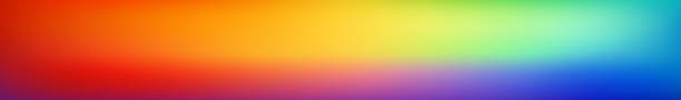 Panoramic smooth and blurry colorful gradient mesh background.  Horizontal view for a glass panels - skinali. Bright rainbow colors. Easy editable soft colored vector template. Premium quality. vector art illustration