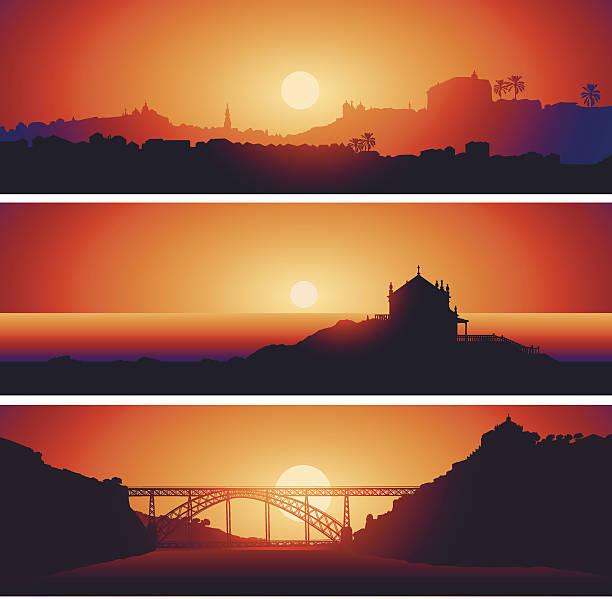 ilustrações de stock, clip art, desenhos animados e ícones de vista panorâmica do porto. portugal - douro