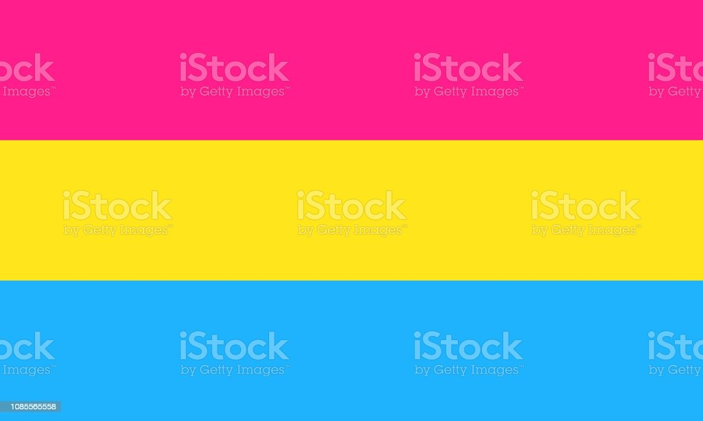 Pansexual pride flag - one of a communities of LGBT sexual minority vector art illustration