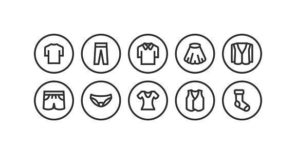 Pant, Dress, Shirt, T-Shirt, Shoes Icon Design