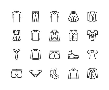 Pant, Dress, Shirt, T-Shirt, Shoes Icons