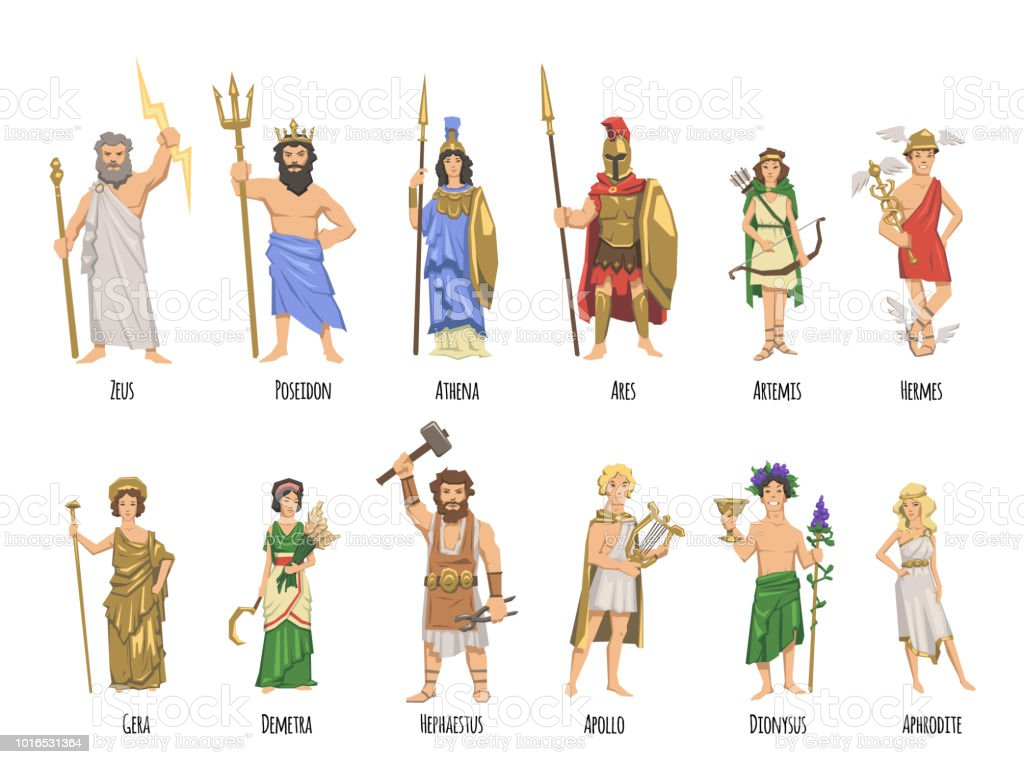 Die Griechischen Götter Und Ihre Symbole