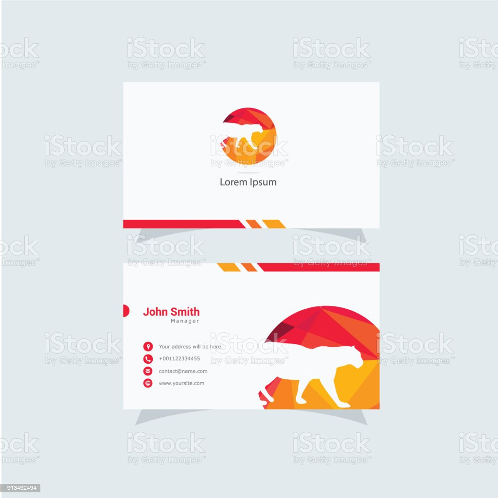 Panther And Leopard Animal Symbol And Business Card Design Template ...