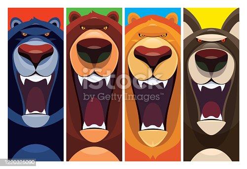 panther bear lion wolf