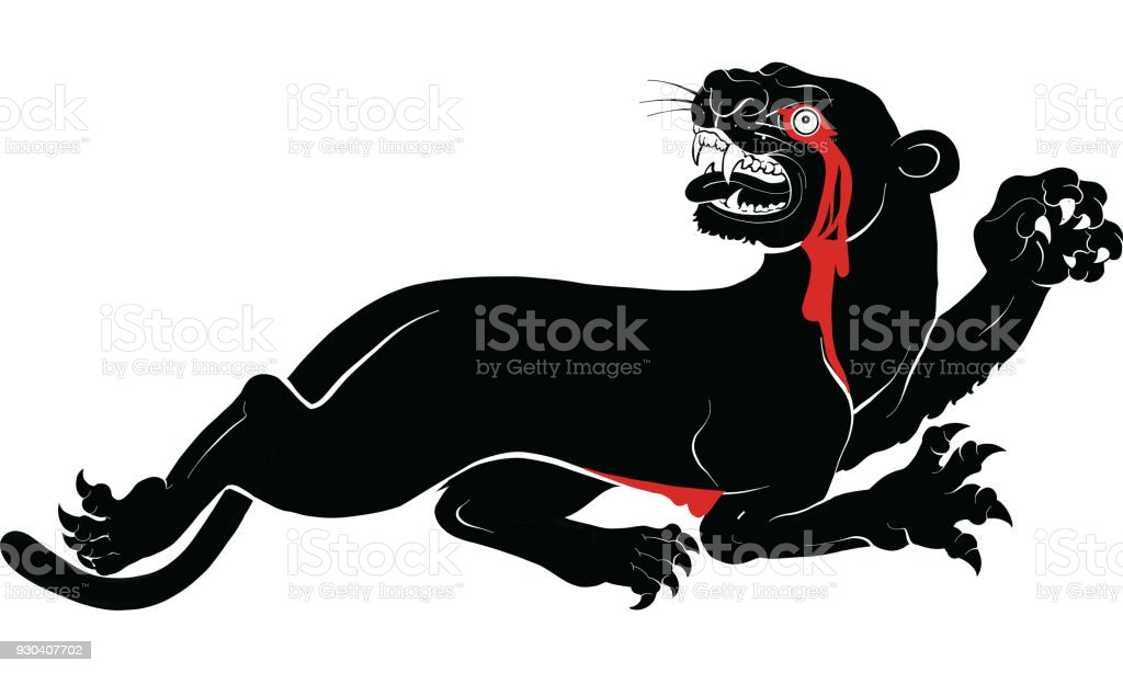 panther drawing vector stock vector art more images of animal rh istockphoto com panther vector 519 panther vector center caps