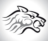 Panther Head Clip Art