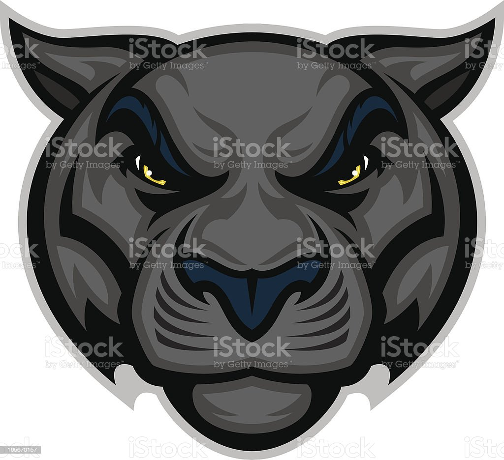 Panther Head vector art illustration