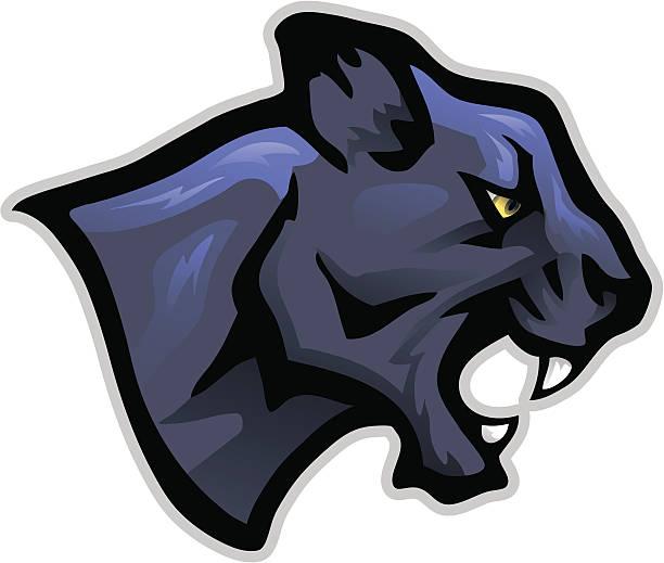 Black Jaguar Growl: Black Panther Roar Illustrations, Royalty-Free Vector